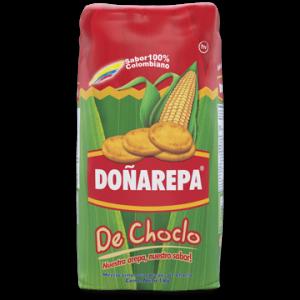 Harina Doñarepa con ingrediente de maíz choclo