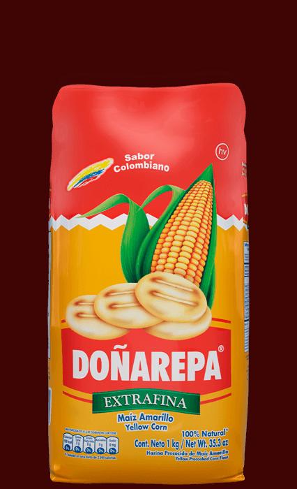 Harina de maíz amarillo extrafina de Doñarepa