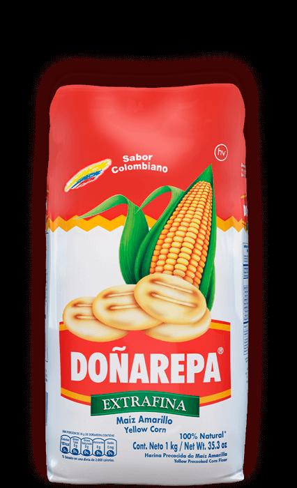 Harina de maíz blanco extrafina de Doñarepa