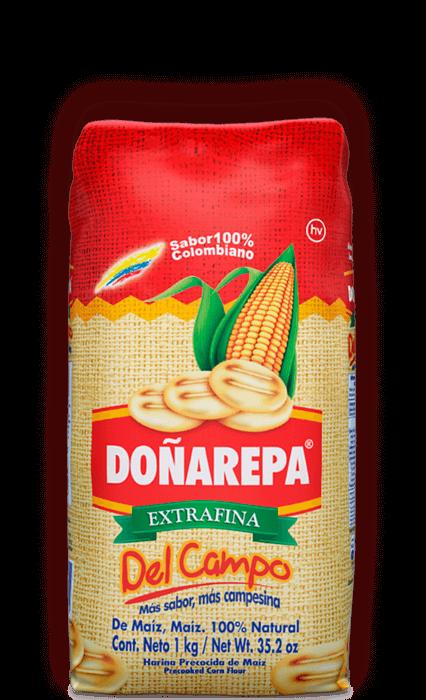 Harina de maíz de Doñarepa extrafina con sabor del campo