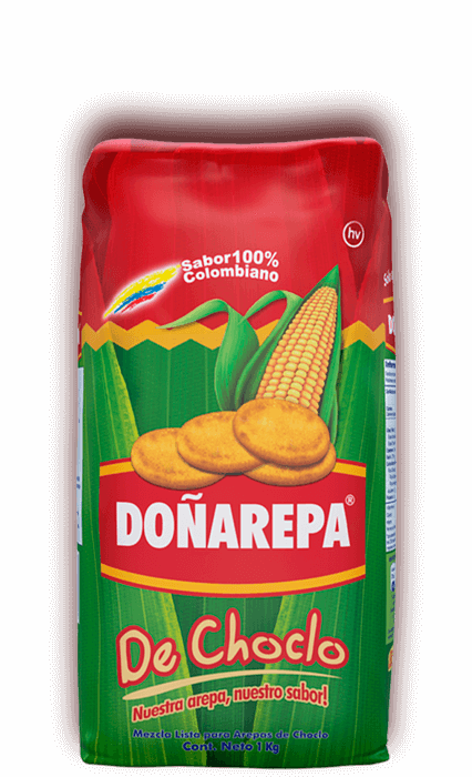 Harina de choclo colombiana de Doñarepa