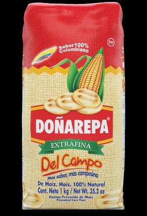 Harina de maíz de Doñarepa extrafina del campo