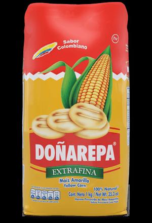 Harina de maíz amarillo de Doñarepa extrafina