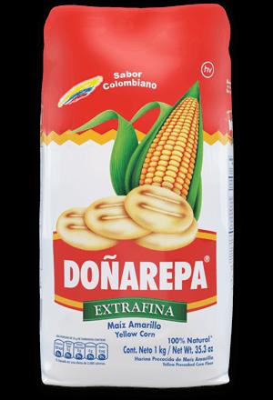 Harina de maíz blanco de Doñarepa extrafina