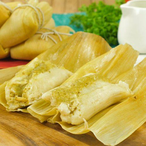 Receta de tamales verdes con harina de maiz
