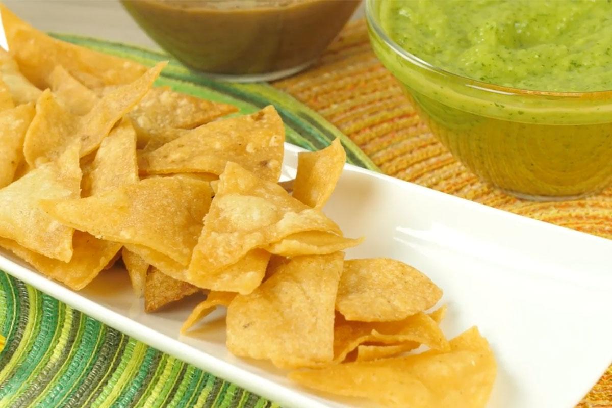 Receta de nachos con harina de maiz