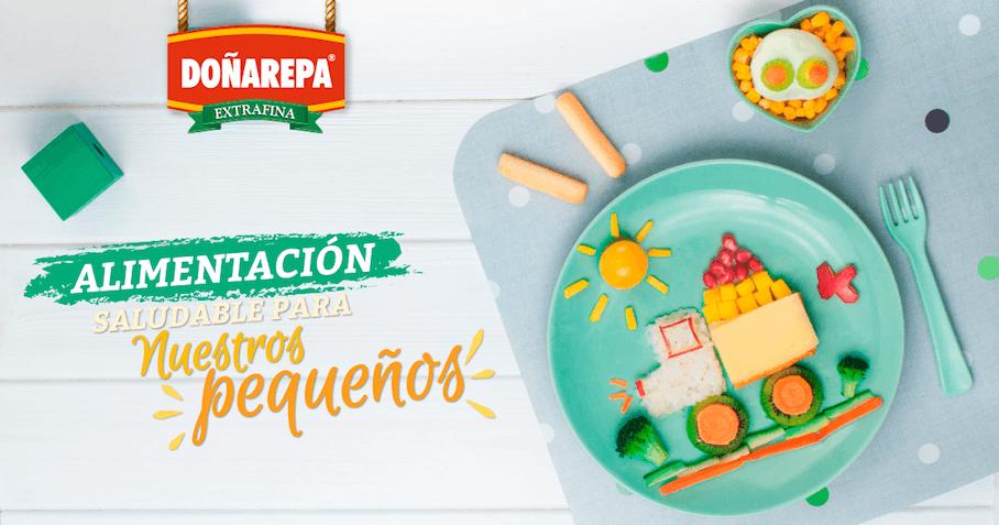 Alimentación saludable para niños con productos de Doñarepa