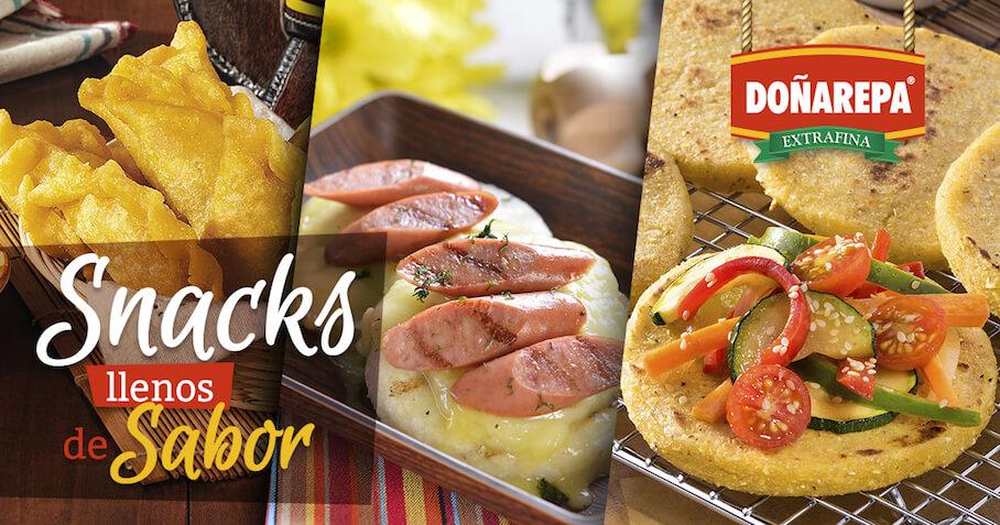 Snacks fáciles y rápidos de hacer con Doñarepa