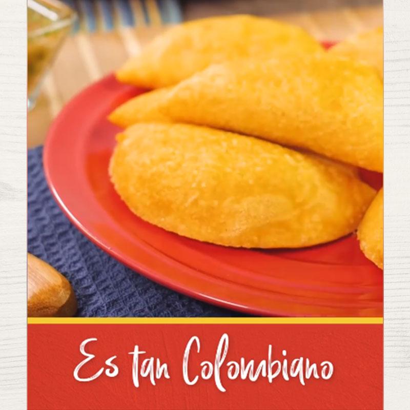 Empanadas de carne colombianas con harina de maíz
