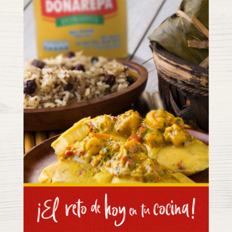 Receta para hacer tamales de Doñarepa
