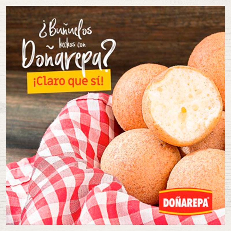 Cómo hacer buñuelos con masa de Doñarepa