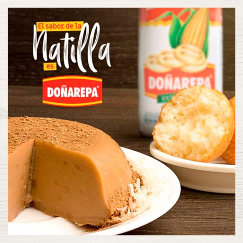 Recetas de natilla con harina de maíz blanco de Doñarepa